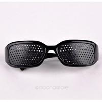 Free Shipping Black Unisex Eyesight Vision Improve Pinhole Glasses Eyes Exercise Glasses Natural Healing ZMHM107#S2