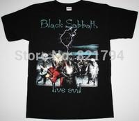 BLACK SABBATH LIVE EVIL Men t shirt 100% Cotton Short Sleeve 16 Colors Customized Logo Free Shipping