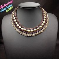 Fashion 2014 New Design Za Brand Statement Choker Vintage Necklaces Luxury Good Quality Elegant Collar Necklace for women 2760