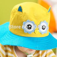 New Baby sun Hat girls boys Summer owl type hats kids children cap  sun beach caps 4types 5pcs/lot