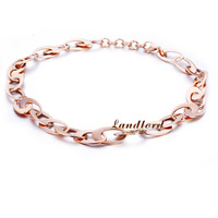 [Landlord] 2014 New Fashion vacuum plated 18k rose gold plated necklace for women High Quality statement necklace NSN215