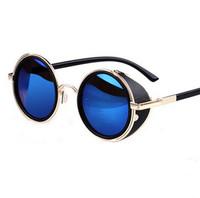 steampunk 2014 طلاء النساء نظارات شمسية جديدة نظارات شمسية للرجال العلامة التجارية مصمم النظارات الشمسية خمر جولة oculos feminino gafas دي سول