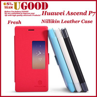 Original Colorful Nillikin Fresh Series Leather Cover Phone Cases For Huawei Ascend P7 Cell Phones Protection Case