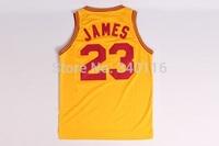 Free Shipping,Cleveland Retro basketball jersey #23 James basketball jersey