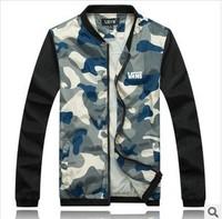 new arrival 2014 camouflage jacket college baseball men slim fit hoodies men sports suit hoodie men