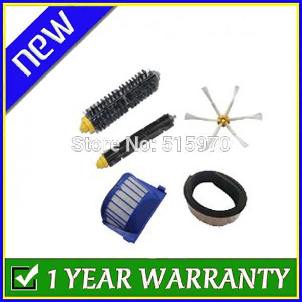 Aero Vac Filter + Brush 6 armed kit for iRobot Roomba 600 Series 620 630 650 660 680 Vacuum Cleaning Robots(China (Mainland))