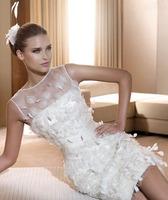 new new design short knee length bride wedding gowns dresses high quality