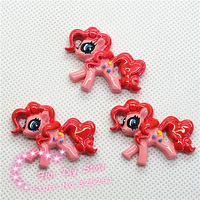 wholesale resin flat back red pony horse free shipping 50pcs 27*34mm