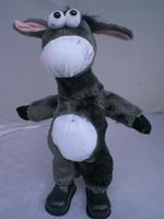 Free shipping Donkey Shook Head Music Electric Donkey Super Plush toy