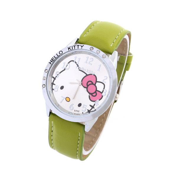 Hot Sale Fashion Colourful PU Strap Women Dress Watch Watches Hello Kitty Fashion Ladies Wristwatches New Promotion(China (Mainland))