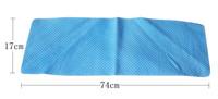 Free shipping 74*17cm sports cool ice towel PVA hypothermia towel Chamois Towel  Yoga towel  100pcs/lot