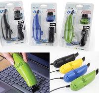 New fashion  Computer Vacuum Mini USB Keyboard Cleaner Desktop Laptop Brush Dust Cleaning Kit