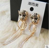 leopard earring fashion style crytal earring