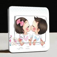 1 PCS Free Shipping Switch Stickers Ke Ai  Meng Wa 1 Wall Tickers Home Decor