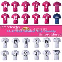 #10 JAMES Real Madrid Jersey 14/15 Thai Quality White Home Real Madrid James Rodriguez Shirt 2015 camisa futebol Free Shipping