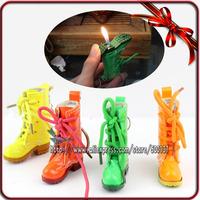Novelty Boots  Led Key Ring Keychain Cigarette Tobacco Refillable Butane Gas Lighter