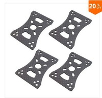4 pieces x 3K CF Motor Mount Plate for 16mm 22mm 25mm Arm Tube Quadcopter Multirotor DIY