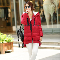 New arrival  2014 Lady Fashion Parkas Women plus size  winter coat  long coat with cap Free shipping 8002