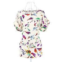 White Chinese Women's Mini Evening Dress Cheongsam Size S M L   73204-73206