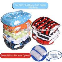 Happy Flute PUL diaper nappy single row snap 5 pcs free shipping