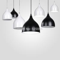 Modern dining room aluminum pendant light,bar pendant lamps,E27 lighting 17cm/22cm diameter Red/Black/White for choice