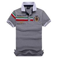 New Arrival 2014 Camisa Polo Tee Shirts Embroidery Aeronautica Militare Polo Men Brand Polo Shirt Shorts Sleeve Shirt  TALY STLY