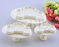 Set of 3pcs Cake Fondant Decorating Sugarcraft Cookie Cutters Mold Heart