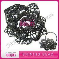 elegant diamante gem rhinestone napkin ring,free shipping.new arrival rhinestone black rose napkin ring