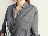 2014 Autumn summer New V-neck cotton Linen women shirt blouse, blusas femininas, long-sleeved female office women tops