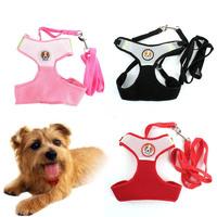 Pet Dog Cat Puppy Leash Rope Vest Mesh Breathe Adjustable Harness Braces Clothes