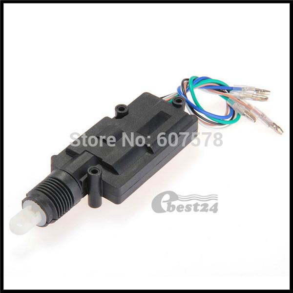 Car Auto Universal Heavy Duty Power Master Door Lock Actuator Motor 5 Wire 12V(China (Mainland))