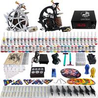 Complete Tattoo Kit 2 Pro Machine Guns 54 Inks Power Supply Needle Grips TK230