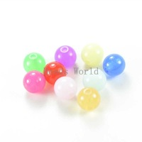 200Pcs Random Mixed Acrylic Spacers Jelly Chunky Beads 8mm Dia.Handcraft DIY Jewelry Findings Free Shipping (W03868 X 1)