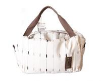 Female handbag big bag stripe pattern on canvas good quality B160