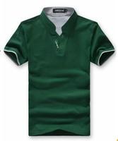 Korean fashion men's short sleeved slim V neck leisure T-shirt JA625