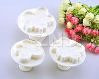 Set of 3pcs Cake Fondant Decorating Sugarcraft Cookie Cutters Mold Sky Cloud Lace