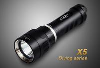 HI-MAX 200Meters 1pcs CREE XM-L U2 LED Diving Torch scuba diving led flashlight waterproof led workable underwater light torch