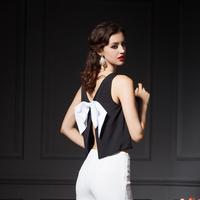 YIGELILA 7213 Fashion Women Back Bow Sexy Sleeveless Hollow Out Women Shirt Free Shipping