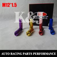 K&J Racing -- Blox Wheel Lug Nuts L:60mm P12X1.5/12X1.25 7075 Aluminum 20 Pieces/Sets