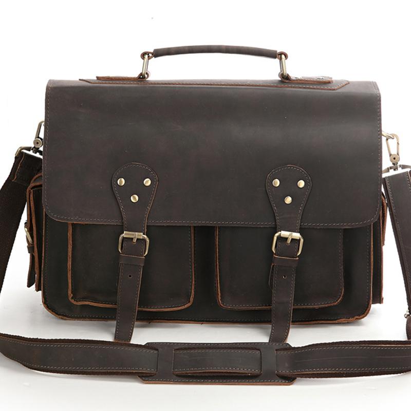 Leather Shoulder Computer Bag – Shoulder Travel Bag