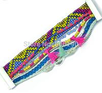 HB113 High Quality Fashion handmade 2014 Newly Arrivals France Bracelet Brazilian Bohemia jewelry with magnetic clasp 6pcs/lot