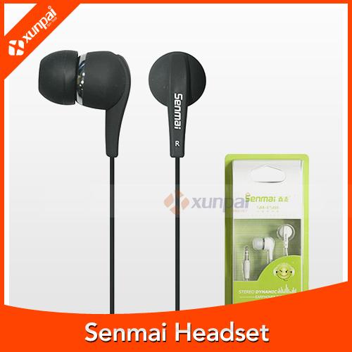 New Arrival Earphone Super Good Quality Senmai E501In-ear Stereo Headset 3.5mm Bass Headphone Laptop Mp3 mp4 Phone Earbuds(China (Mainland))