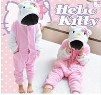 Anime Animal Child Girls Onesies White Sleeve Kids Hello Kitty  Onesies Pajamas Sleepwear