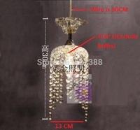 D13CM Single E14 Crystal Pendant Lights Abajur Lustres E Pendentes Lamps Lustres De Cristal Lampshade Ikea Lustre Pendant Lamp