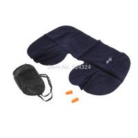1setCar Air Travel Soft Neck Air /U Cushion Pillow + eye mask + 2 Ear Plug