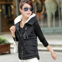 New arrival  2014  Free shipping  Lady Fashion Parkas Women plus size  winter vest coat with cap 902