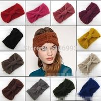 fashion women's crochet Wool headband knit hair band teenager girl's knitted wide Headbands Winter Ear Warmer Hair Accessories