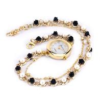 AW-SB-907 New Style ladies Jewelry watch Chain Geneva Bracelet watch Heart Pendent women rhinestone watches women dress watches