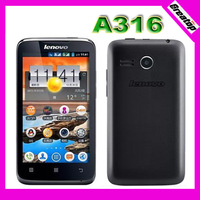 MTK6572 Dual Core Lenovo A316 A316i 3G phone Android OS 4.0 Dual Sim 4.0inch Capacitive touch 2.0MP camera GPS Wifi