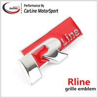 Metal Chrome Rline R Line R20  Car Grille Emblem Badge VW Tuning 3D Emblem Sticker Black/Red For VW Tiguan Passart Golf Sagitar